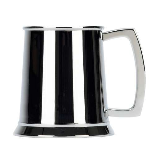1 Pint Stainless Steel Tankard - Plain