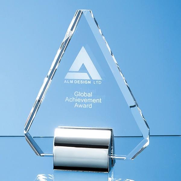 Optical Crystal Diamond mounted on a Chrome Stand