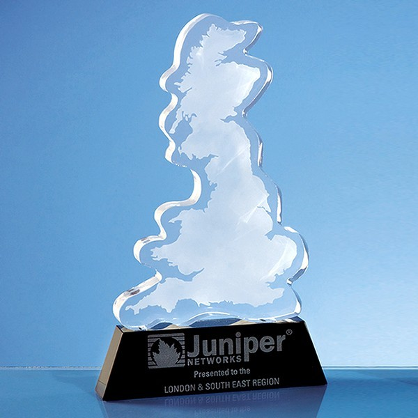 Optical Crystal UK Silhouette Award on an Onyx Black Base