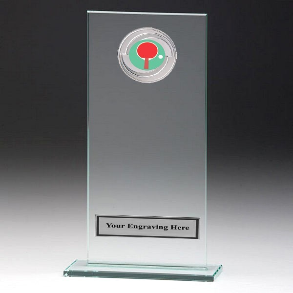 Jade Glass Gladiator Plaque with Table Tennis Insert