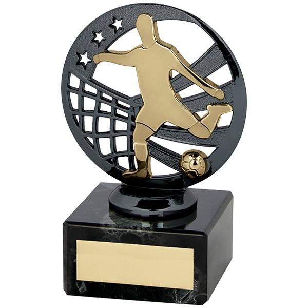 Ranger Football Trophy Gunmetal & Gold
