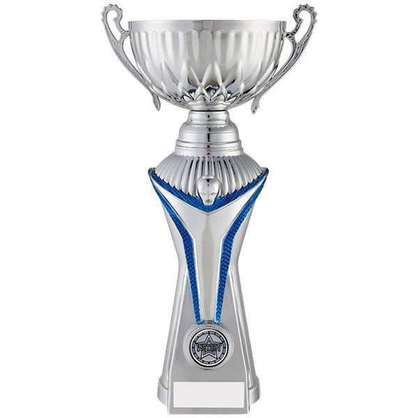 World Trophy Heavyweight Cup Silver & Blue