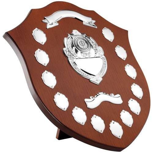 Wooden Shield with Chrome Fronts and Mini Shields