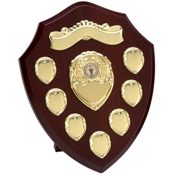 Wood Presentation Shield with Gold Record Shields
