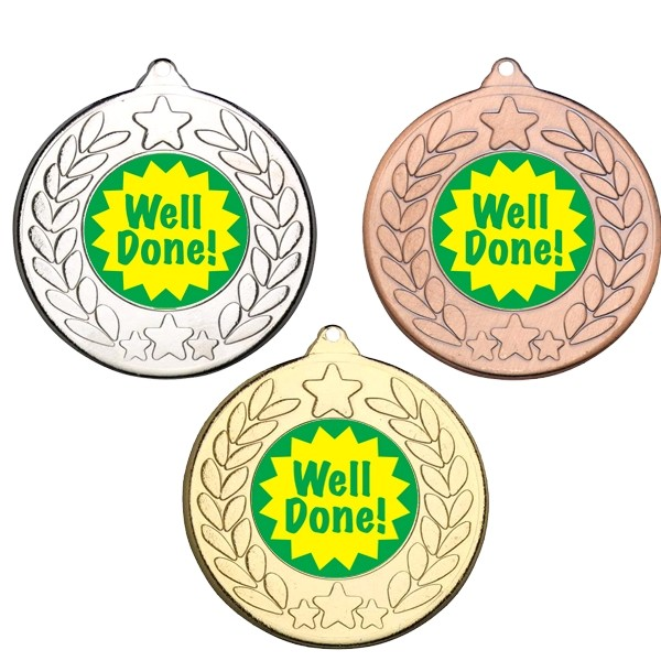 Well Done Stars and Wreath Medals