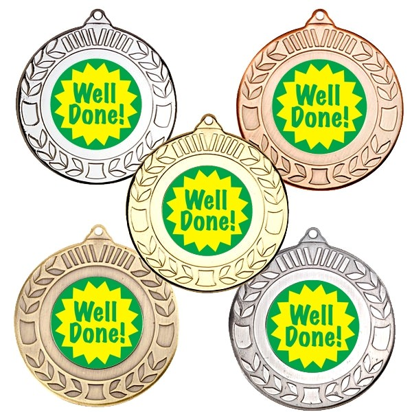 Well Done Wreath Medals
