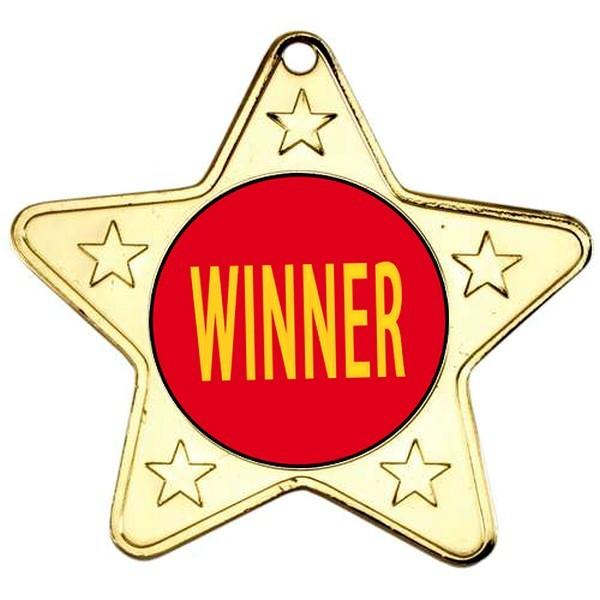 Winner Star Shaped Medals