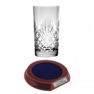 Crystal Hiball Glass with Base