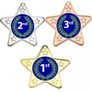 1st, 2nd, 3rd Star Shaped Medals