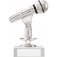 Silver Microphone Trophy