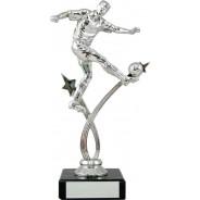 Silver Football Figure on Marble Base