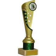 Gold and Green Star Flute Trophy