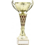 Gold Cup with Red Trim Trophy