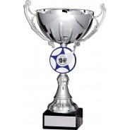 Silver Cup with Blue Star Trophy
