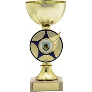 Gold Cup with Blue Star Trophy