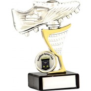 Silver Football Boot Trophy