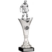 Silver Football Figure on Tower Trophy