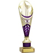 Gold and Purple Flute Trophy