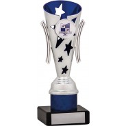 Silver and Blue Star Flute Trophy