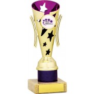 Gold and Purple Star Flute Trophy