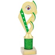 Green and Gold Tower Trophy