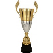 Gold and Silver Presentation Cup on Black Base