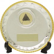 Silver Salver with Gold Edging