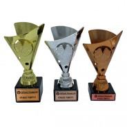 Chequered Flag Plastic Motorsport Trophy Set