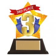Mini-Star 3rd Place Acrylic Plaque