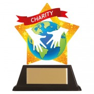 Mini-Star Charity Acrylic Plaque