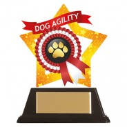 Mini-Star Dog Paw Acrylic Plaque