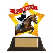 Mini-Star Equestrian Acrylic Plaque
