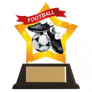 Mini-Star Football Acrylic Plaque