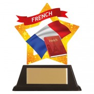 Mini-Star French Acrylic Plaque