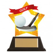 Mini-Star Golf Acrylic Plaque