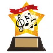 Mini-Star Music Acrylic Plaque