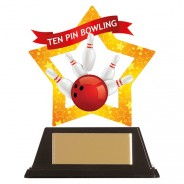 Mini-Star Tenpin Bowling Acrylic Plaque