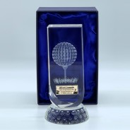 Clear Glass Golf Trophy