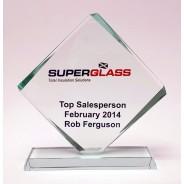 Diamond Glass Award with free Colour Engraving!
