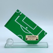 Green Football Pitch Football Plaque