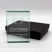Cross Flag Award - Laser Engraved