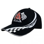 Personalised Cap with Chequered Flag Detail