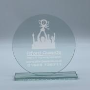 Jade Clear Glass Trophy