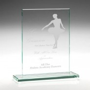 Rectangular Flat Glass Trophy with Engraving FREE