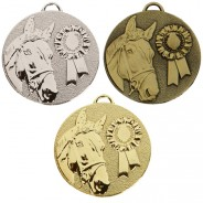 Target Horse Rosette Medal
