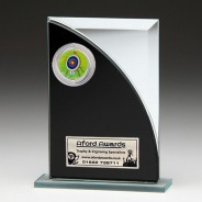 Black & Silver Glass Award with Archery Insert
