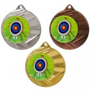 "Archery 50mm Medal with 1"" Centre"
