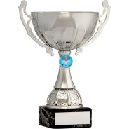 Silver Cup Trophy with Badminton Insert