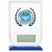 Multisport Glass Award with Badminton Insert