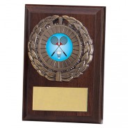 Shannon Cherrywood Plaque with Badminton Insert